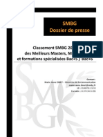 SMBG DP 05032011 Classement Master