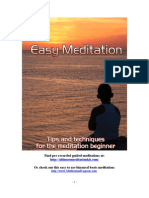 Easy Meditations Methods