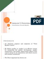 Armand V Feigenbaum's