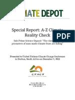 A-Z Climate Reality Check