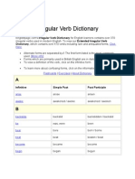 Irregular Verb Dictionary