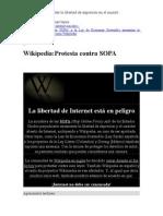 Wikipedia Necesita Que Internet Sea Libre