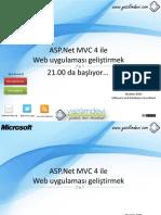 ASP.Net MVC 4 ile Web uygulaması geliştirmek