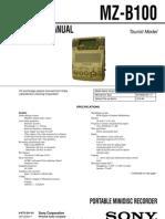 Sony MZ-B100 Service Manual