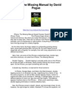 iPhone the Missing Manual by David Pogue - Make Sure Youve Ordered the Correct Book