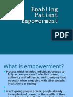Enabling Patient Empowerment
