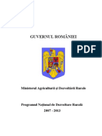 Programul National Pentru Dezvoltare Rurala 2007-2013 Versiune Oficiala