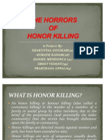 Honor Killing (Emphasis on India)