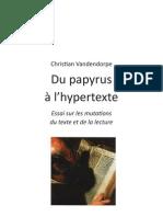 du papyrus à l'hypertexte