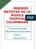 los mejores artistas de la musica tropical colombiana