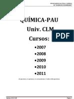 Preguntas PAU CLM 2007-2010 Clasificadas