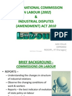 2nd Labour Commission Report 2002 & Ammendment 2010