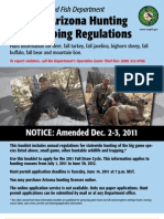 Amended 2011-12 ARIZONA HUNTING AND TRAPPING REGULATIONS