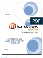 Advertising and Sales Promotion for Micromax (1)