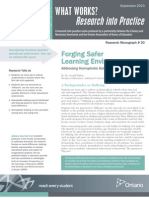Forging Safer Learning Environments