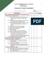 Checklist Neurologic Assessment