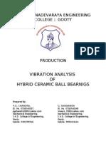 Vibration Analysis of Hybrid Cyramic Ball Bearings