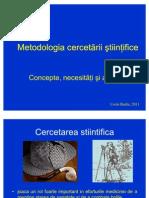 Curs 1 CB Metodologia Cercetarii Mod CB Oct 2011
