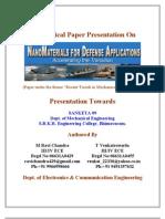 Nano Materials for Defence Applications
