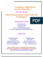 Satellite Technology Utilization for Rural and Urban India