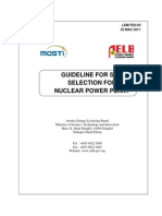 Lemtek63-Guideline for Site Selection for Npp