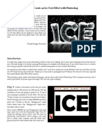 How to Create an Ice Text Effect With Photoshop
