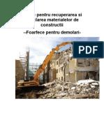 Utilaje Pentru a Si Reciclarea Materialelor de Constructii