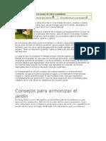 articulos Armonización de jardín