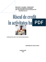 Riscul de Credit in Activitatea Bancara