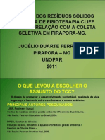 APRESENTAÇÃO DO TCC  DE JUCÉLIO 25 DE MAIO OK .