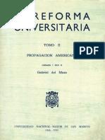 La Reforma Universitaria. Perú