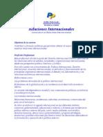 Perfil Profesional de La Carrera de Relaciones Internacionales