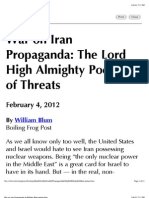 War on Iran Propaganda by William Blum.webarchive