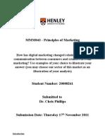 Principles of Marketing Essay 1 (by Kornkrit Vejjaijiva 20008261)