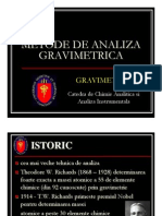 Metode de Analiza Gravimetrica