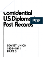 Confidential U.S. Diplomatic Post Records, Russia and the Soviet Union, 1914-1941, Part 3. the Soviet Union, 1934-1941