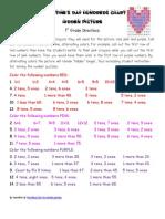 Valentine Hundred Chart Hidden Picture