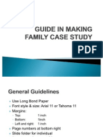 Guide in Making Family Case Study