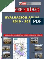 EVALUACIÓN DE LA MICRO RED RIMAC