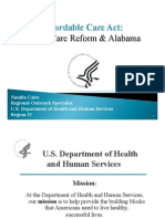 Affordable Care Act Health Care Reform and Alabama