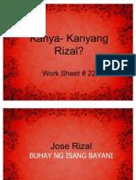 Kanya- Kanyang Rizal