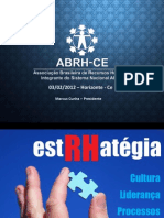 Palestra da ABRH CE para Grupo de RH em Horizonte - Ceará - 3-2-2012 - RH Estratégico