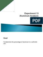 Aluminum Analysis(Chemistry)
