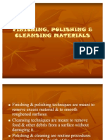 Finishing, Polishing & Cleansing Materials
