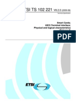 Etsi Ts 102.221 UICC-Terminal Interface Phy Logical Characteristics