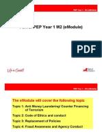 Training Material PEP Year 1 - M2 (eModule)