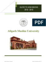 Guide to Admissions 2012-13 (AMU)