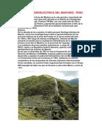 Central Hidroelectrica Del Mantaro