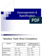 Apexogenesis & Apexification