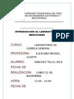 Informe Nº1 de Laboratorio de Quimica General